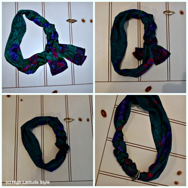 #styleover40 howto braid a scarf into a necklace