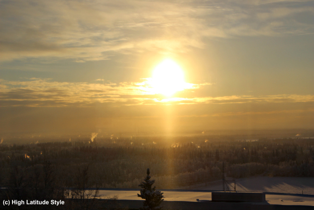 #Fairbanks View on Fairbanks from the West Ridge in winter