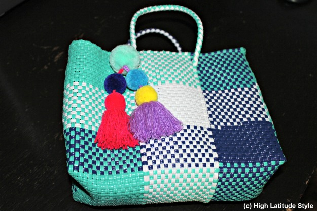 Mini Stella Tote with pom poms c/o Boutique Mexico #fashionwithapromise