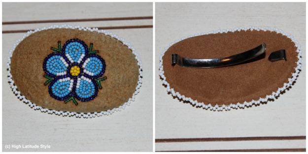 #hairjewelry traditionally beaded hair pin #Alaska #travel