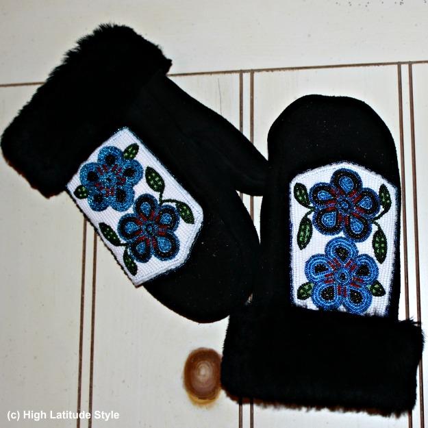 #Alaska #travel beading on mittens