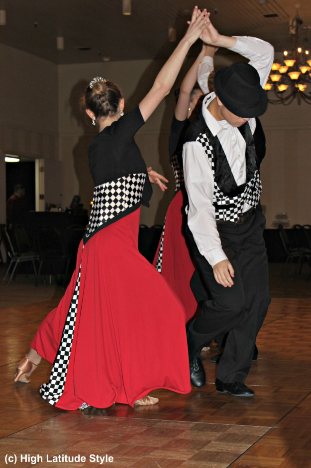 #ballattire Couple of the Lathrop High School Ballroom Dance team