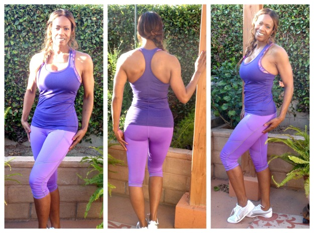 fashion over 50 Lily Seymour in stylish gym gear