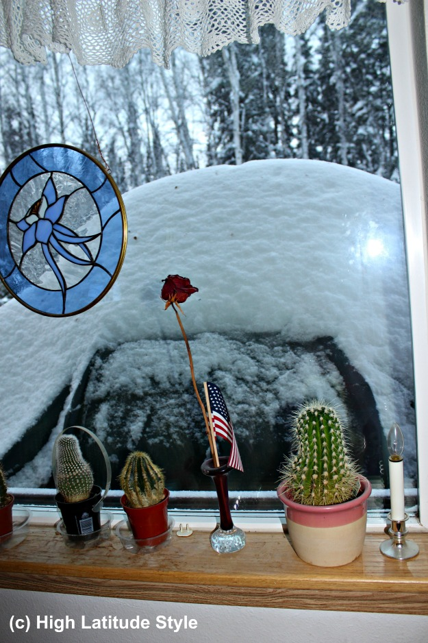 #Alaska snow piled up on the grill