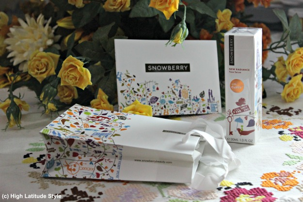 #Snowberry skincare products in nice gift box with gift bag