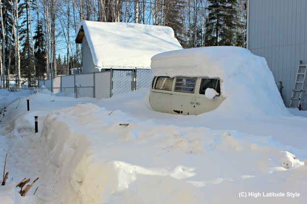 Snow height on March 19, 2017 in College, Alaska