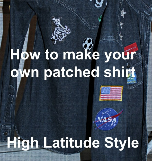 DIY making a patched shirt