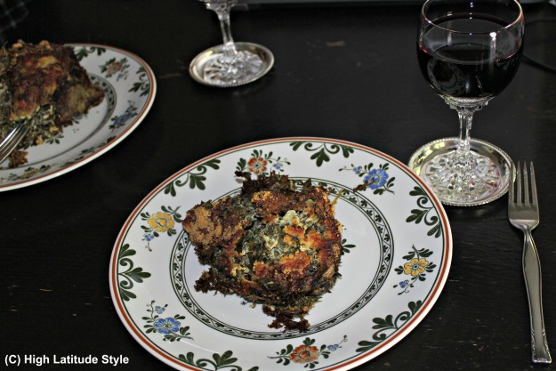 Baked dandelions and red wine