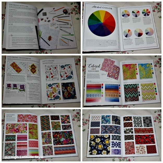 collage showing 6 coloring tutorials