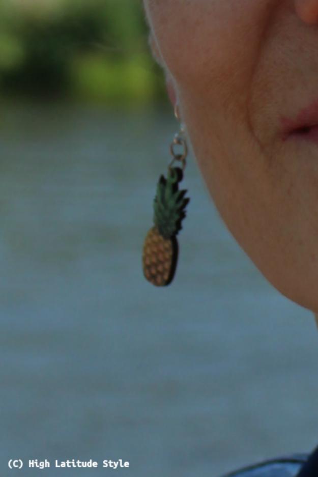 #jewelryover40 mature fashion pineapple ear piece