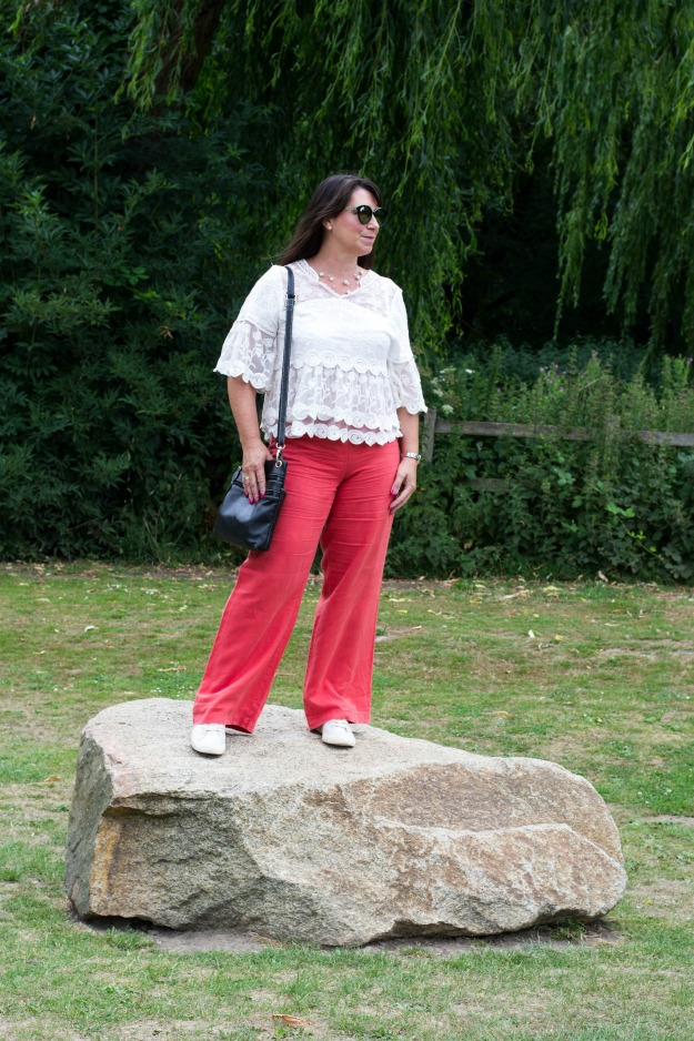 #fashionbloggerover50 older woman donning a casual weekend look