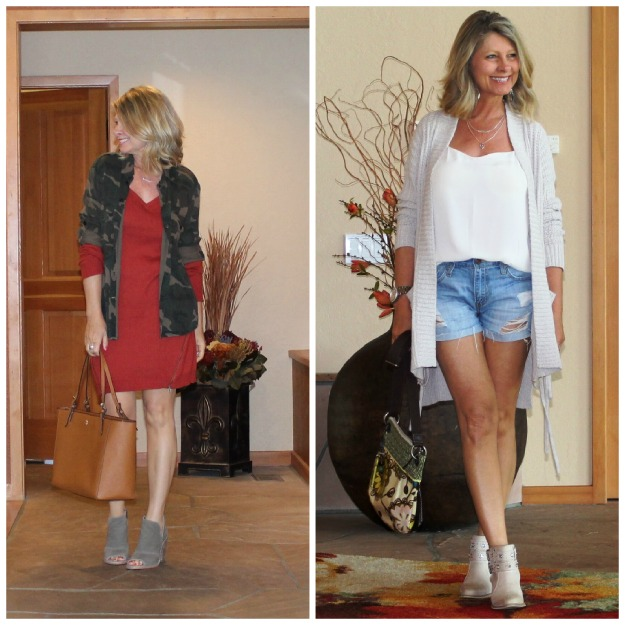 #fashionover50 Cheryl using layers to wear summer items in fall