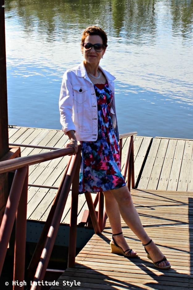 #maturestyle woman in posh summer dress