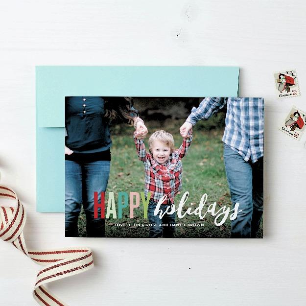Basic Invite holiday card