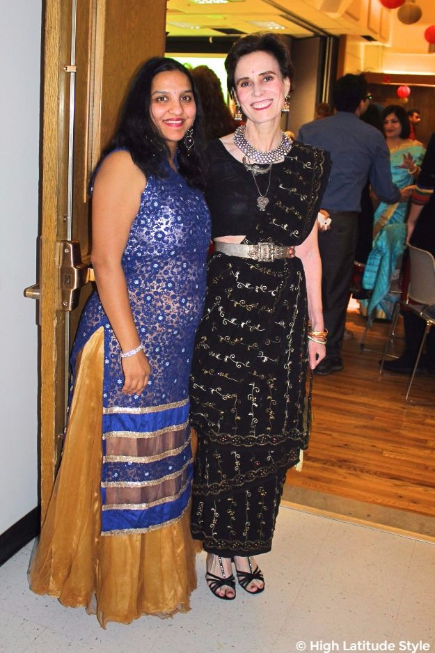 #midlifefashion women in festive outfits at Diwali