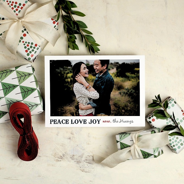 Basic Invite Peace, Love, and Joy holiday greetings