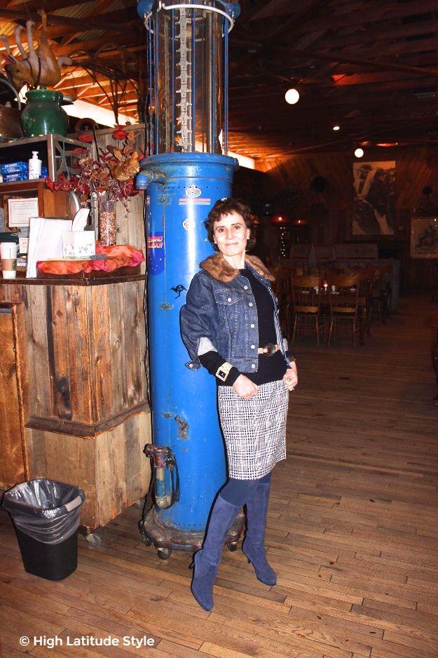 #maturestyle Alaskan woman in posh casual look