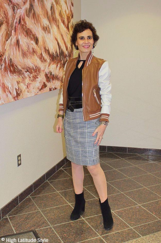mature woman in Casual Friday attire