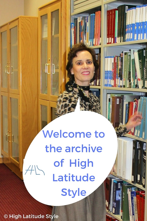 Nicole of High Latitude Style welcoming readers to the archive