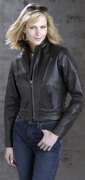 trendy biker jacket with lace