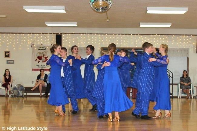 #danceshow Lathrop High School Dance Team performing a foxtrot at an event