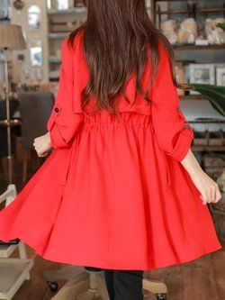 #fashiontrends trendy anorak trench coat back view