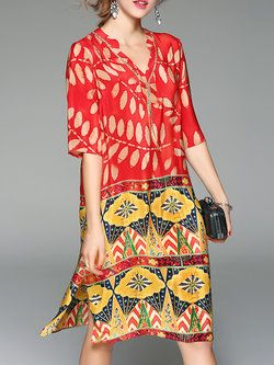 #mixedprinttrend #fashionover40 mixed print dress