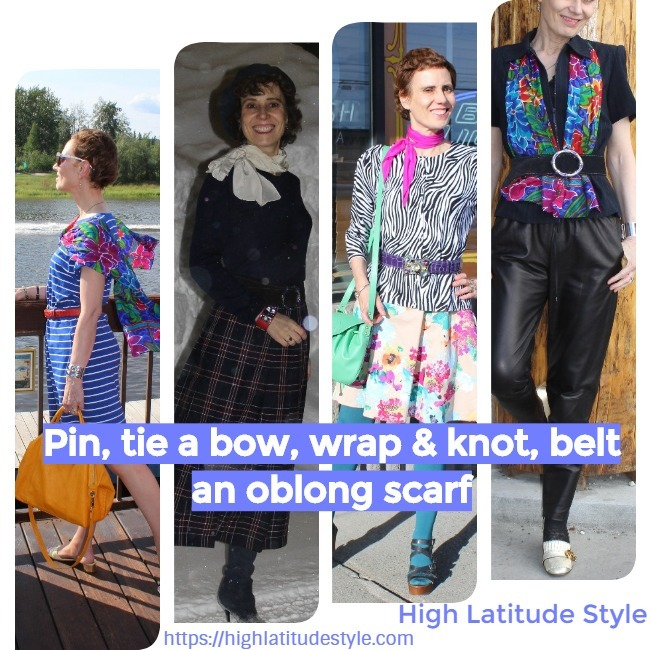 #accessories oblong scarf styling inspiration sheet