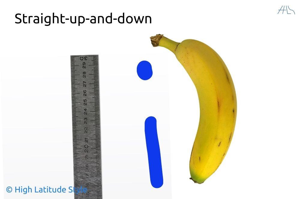 illustration of banana, I, ruler body type
