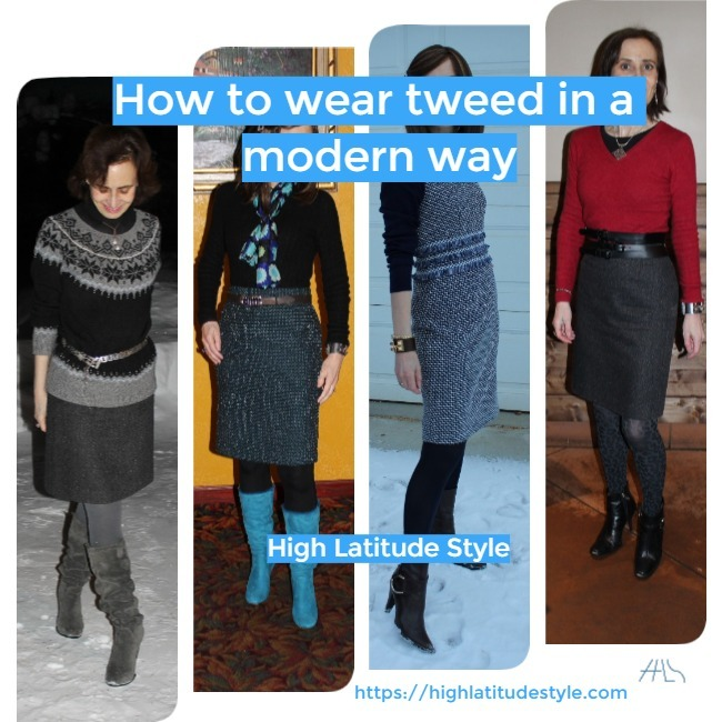 #midlifestyle how to wear tweed in a modern way