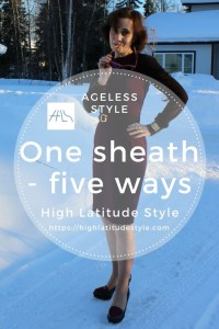 How to style one sheath multiple ways (1 dress = 5 looks)