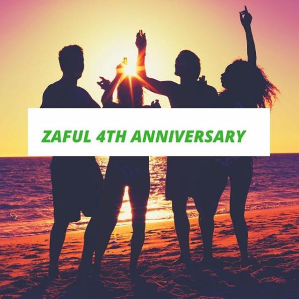 zafull 4th anniversary banner beach scene