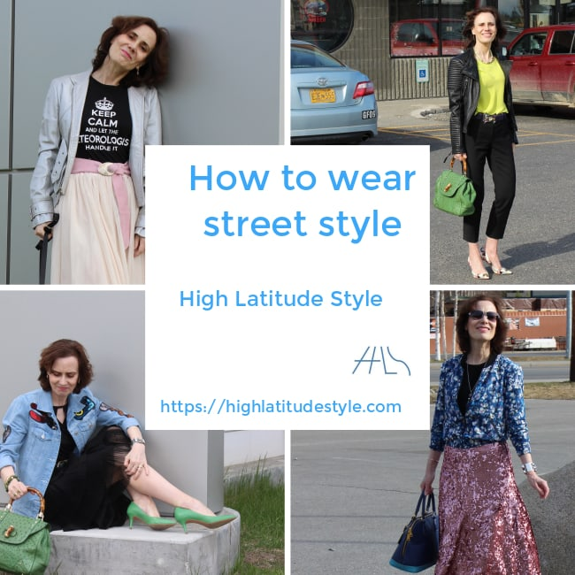 #fashionover50 #streetstyle how to wear street style banner