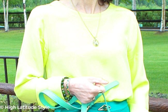 details of jewelry of the office look
