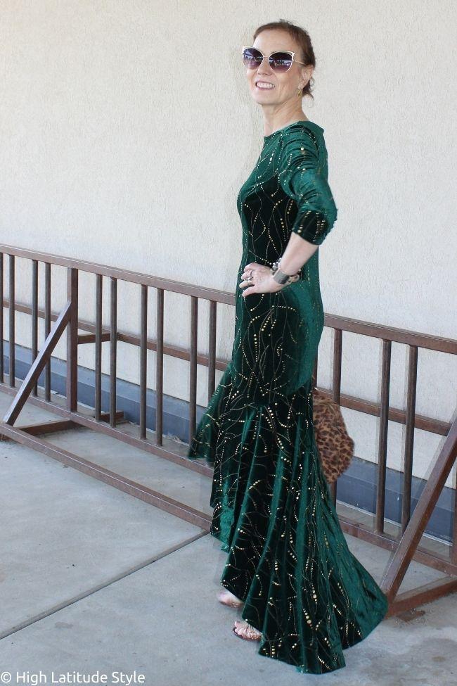 side view high low hem dress
