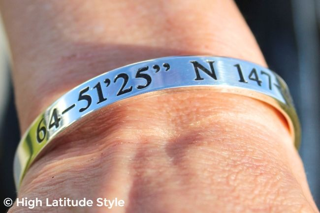 #jewelryover40 sterling silver bracelet with longitude and latitude #oNecklace