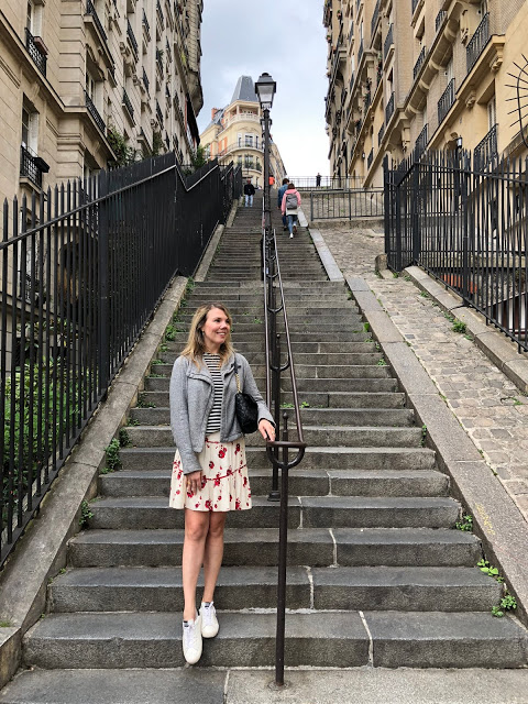 #linkup Top of the World OOTD My Fav Cheryl in a mixed print with hoodie sightseeing outfit in the city of lights