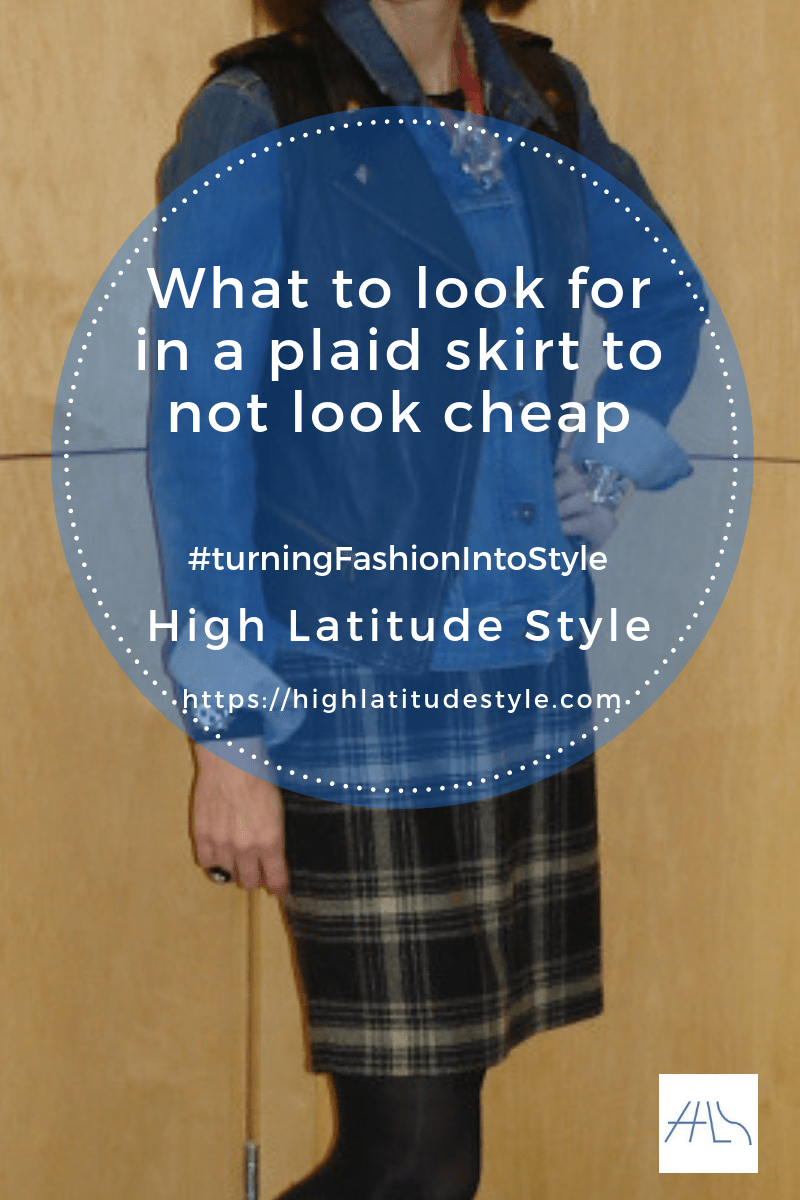 What to look for in a plaid skirt to not look cheap