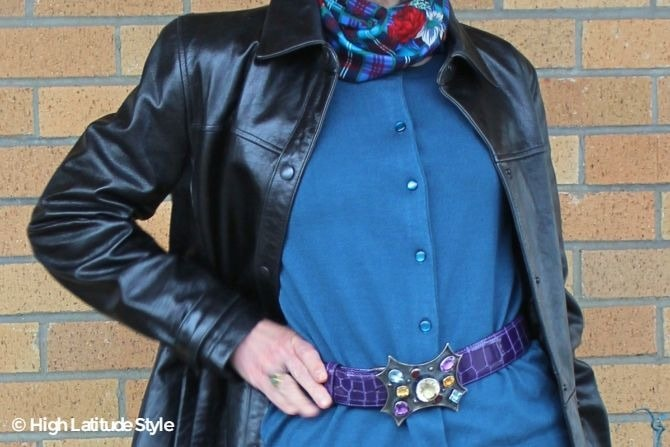 outfit and buckle details