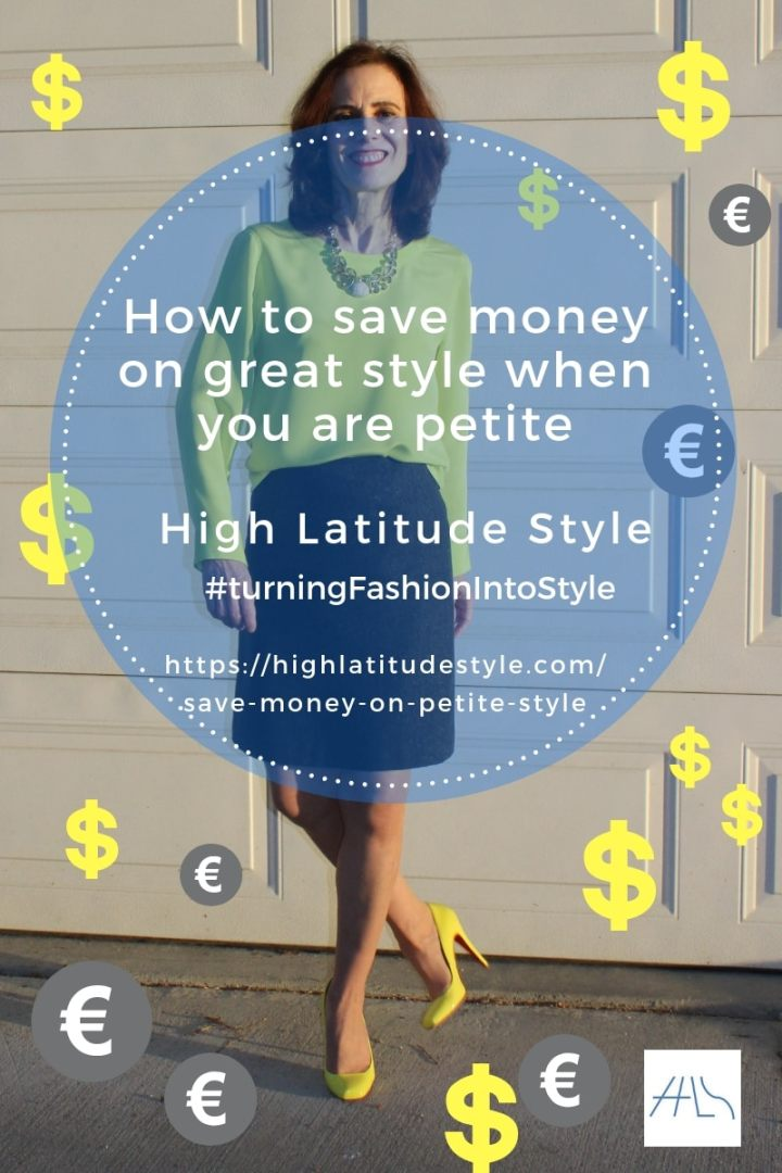 #over50fashion banner of How to save money on great style when you are petite post