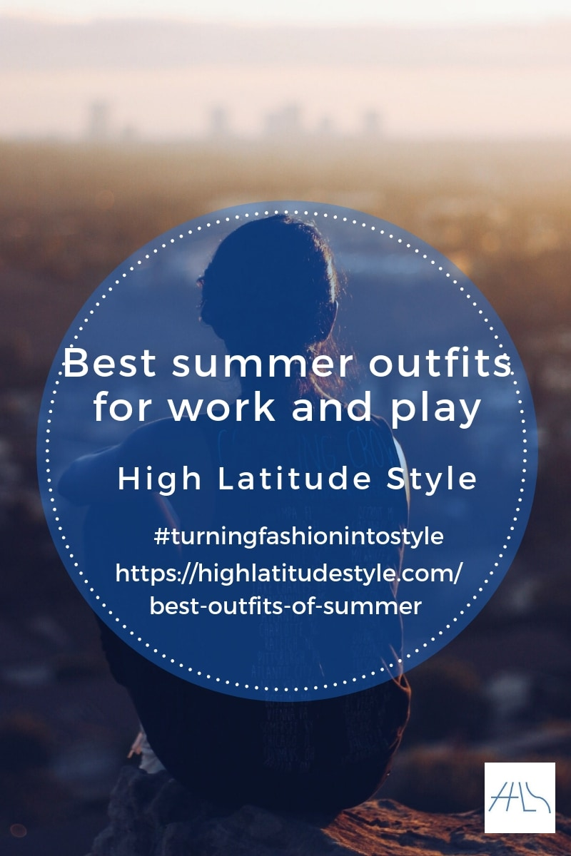 post banner for best summer outfits for work and play showing a woman in summer