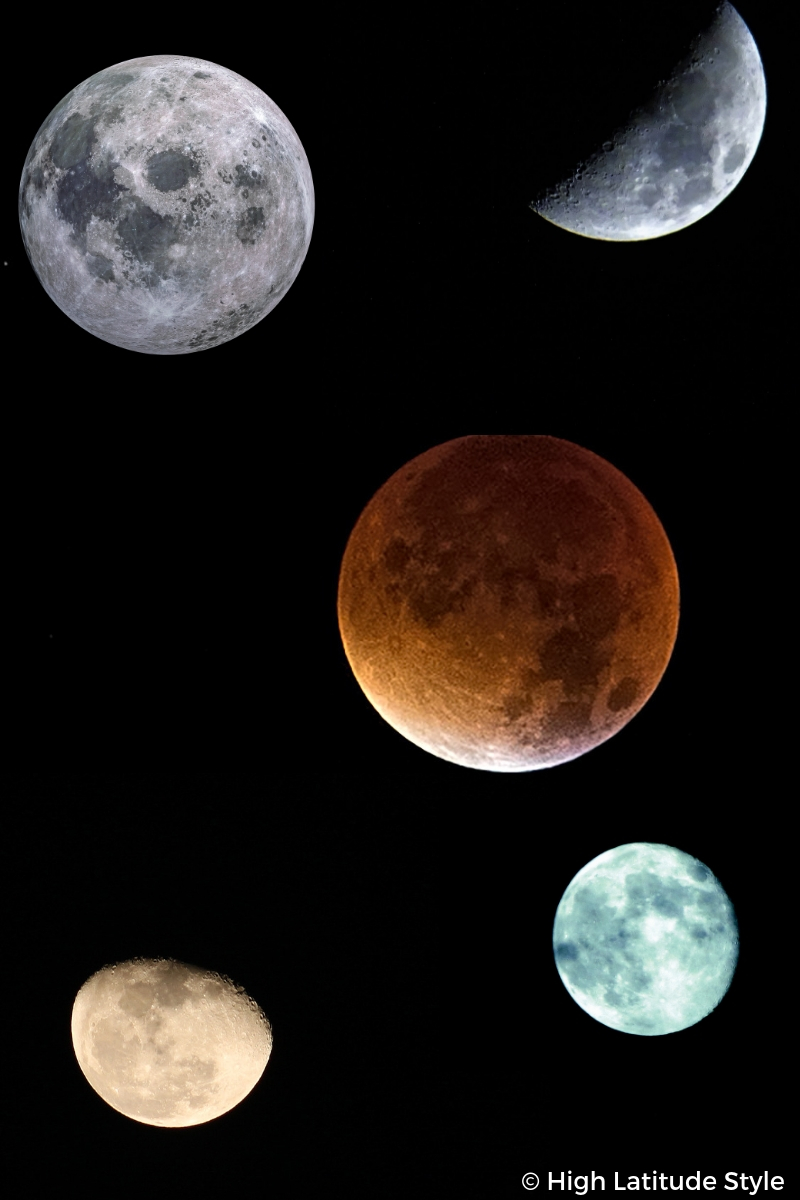 #moon #lunareclipse composite of photos of Luna