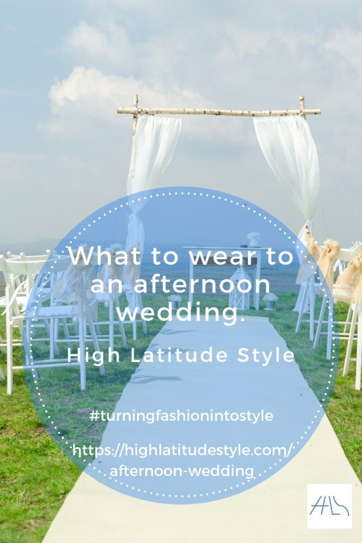 flyer for post about afternoon wedding attire etiquette