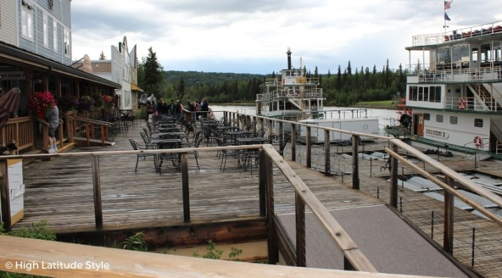 #travel Photo of the river boat Discovery II and Discovery III (right) at the dock on the Chena River