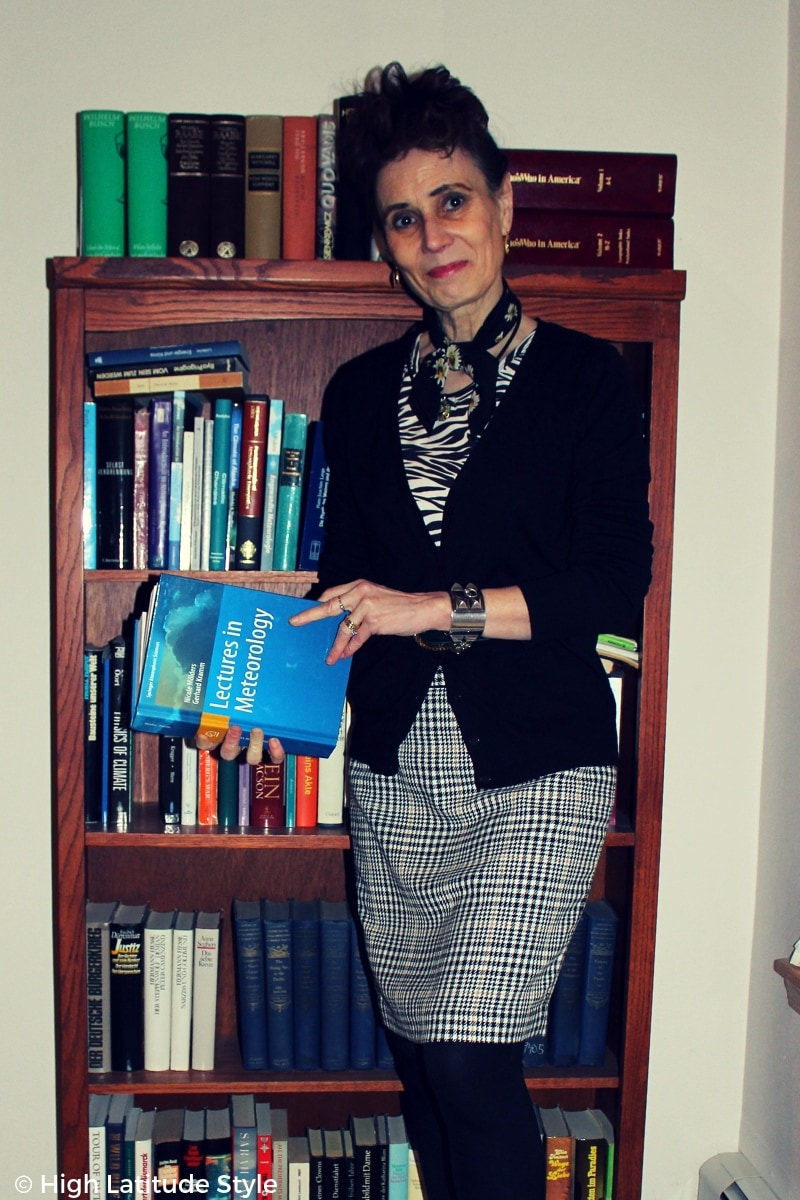 #agelessstyle Nicole in floral, zebra, hounds tooth mixed pattern trend