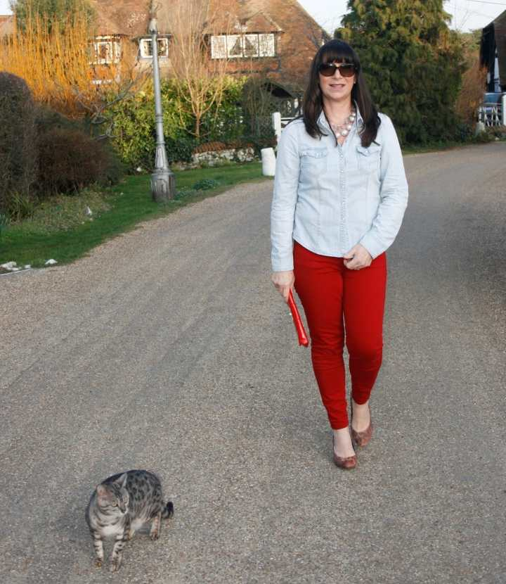 Top of the World OOTD Readers' Fav Jacqui Berry with a cute cat