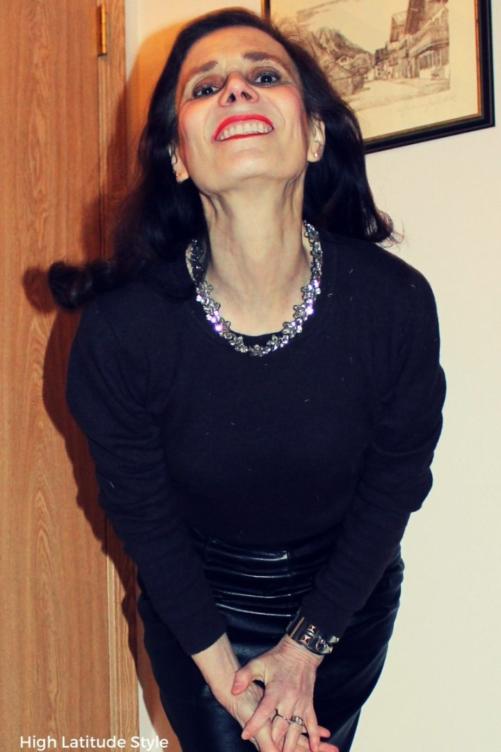 #HappinessBoutique Nicole of High Latitude Style donning a sparkling neckband