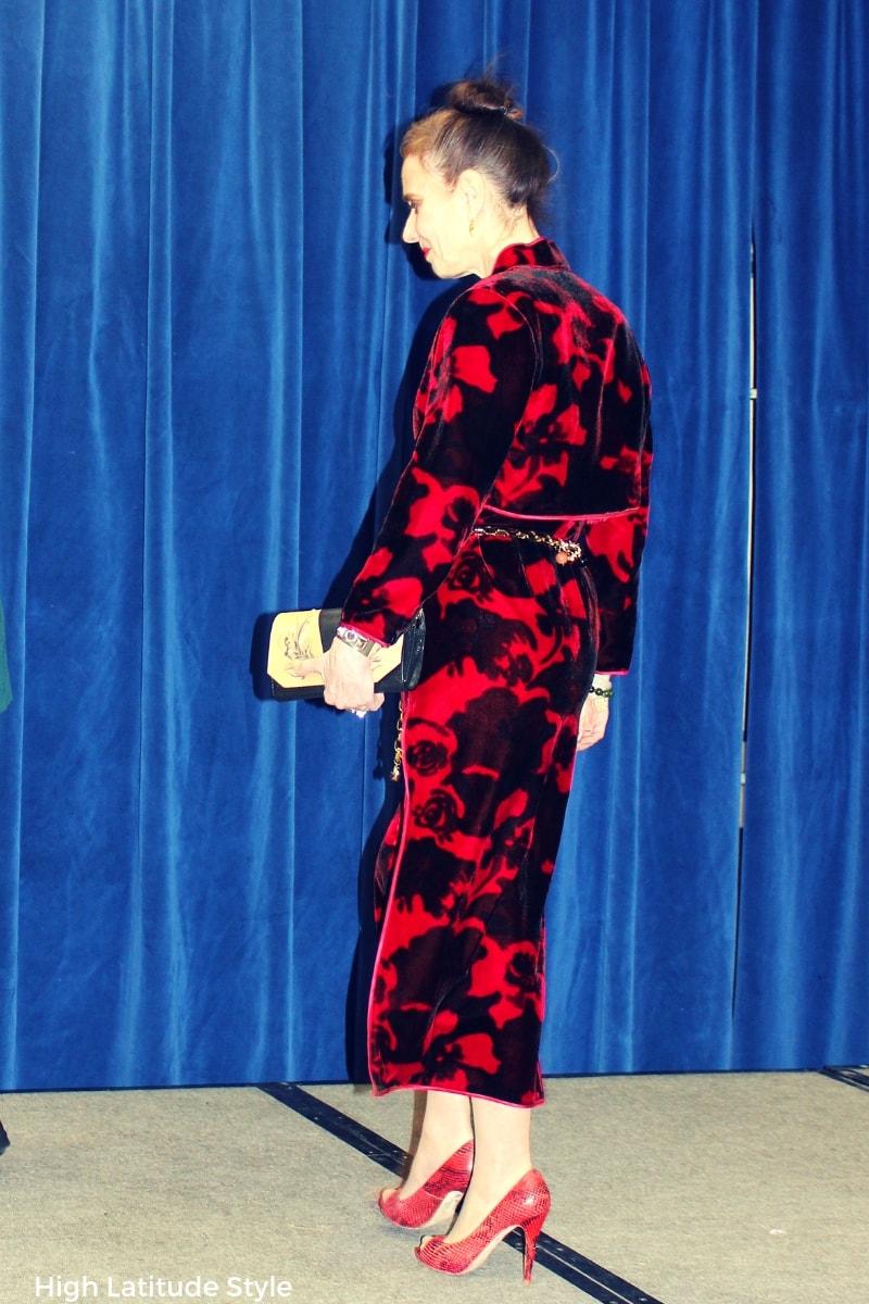 See the beautiful cheongsam I wore Chinese New Year
