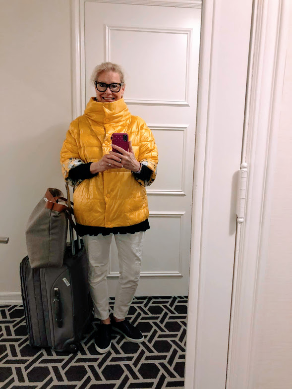 Top of the World OOTD My Fav Robin Lamonte in yellow puffer jacket