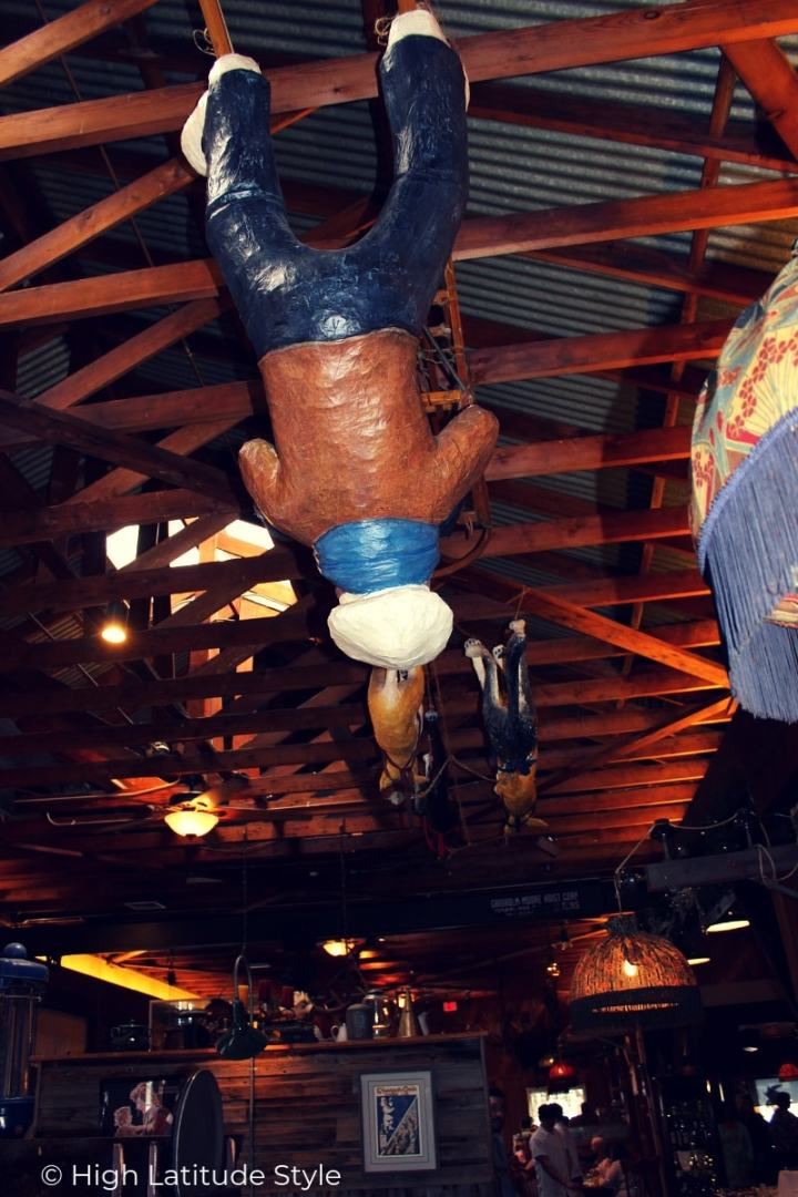 old time eatery mushing team ceiling decoration